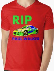 RIP PAUL WALKER ECLIPS Mens V-Neck T-Shirt