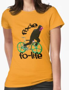 Fixie for life Womens Fitted T-Shirt