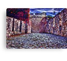 The Romantic Road Fortress Kalemegdan Belgrade Canvas Print