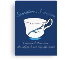 Belle's Chipped Cup (v2) Canvas Print