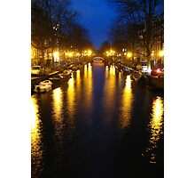 Amsterdam Channel Lights Photographic Print