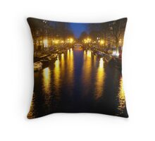 Amsterdam Channel Lights Throw Pillow