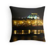 Winter Night in Prague Throw Pillow
