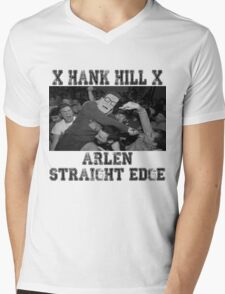 X ARLEN X Straight Edge King of the Hill Mens V-Neck T-Shirt