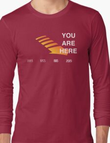 Back to The Future Timeline  Long Sleeve T-Shirt