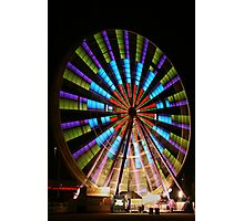 Ferris Wheel lights. Photographic Print