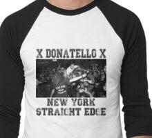 x DONATELLO x Straight Edge Men's Baseball ¾ T-Shirt