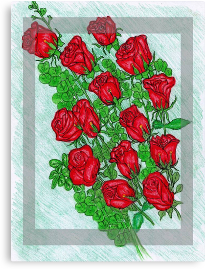 Red Roses by Nancy Shields