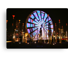 Ferris Wheel lights Two. Canvas Print
