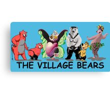 The village bears Canvas Print