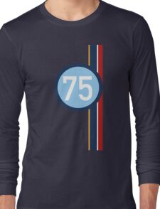 '75' Racing number with RAF roundel colour stripes Long Sleeve T-Shirt
