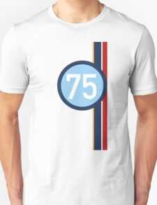 '75' Racing number with RAF roundel colour stripes Unisex T-Shirt