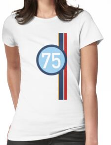 '75' Racing number with RAF roundel colour stripes Womens Fitted T-Shirt