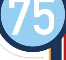 '75' Racing number with RAF roundel colour stripes Sticker