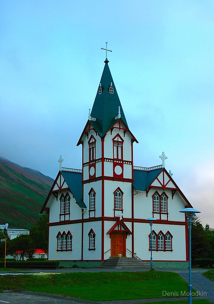 """Temples - """"The Church of Husavik (IS)"""" by Denis Molodkin"""
