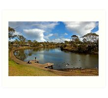 Old Noarlunga fisherman Art Print