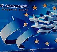 Greek Election Poster by phil decocco
