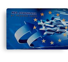 Greek Election Poster Canvas Print