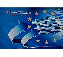 Greek Election Poster Photographic Print