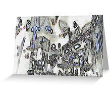 cardiff in peril Greeting Card
