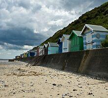 Beach huts by laurav