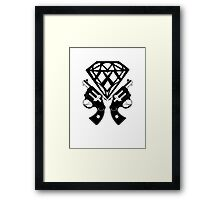 FUCKIN LIVING DIAMOND AND GUNS Framed Print