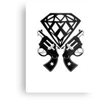 FUCKIN LIVING DIAMOND AND GUNS Metal Print
