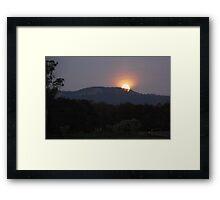 Moonrise at Upper Lansdowne Framed Print