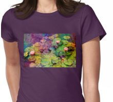 Watercolour Lillies Womens Fitted T-Shirt