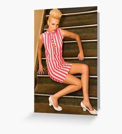 pinup girl Greeting Card