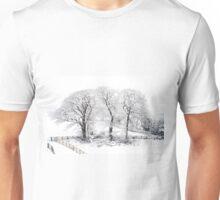 Three Snowy Trees Unisex T-Shirt