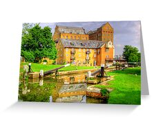 Coxes Lock and Mill HDR Greeting Card