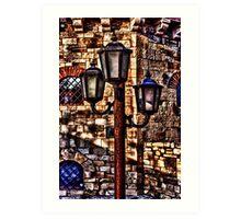 Vintage Lights Kalemegdan Fortress Belgrade Art Print