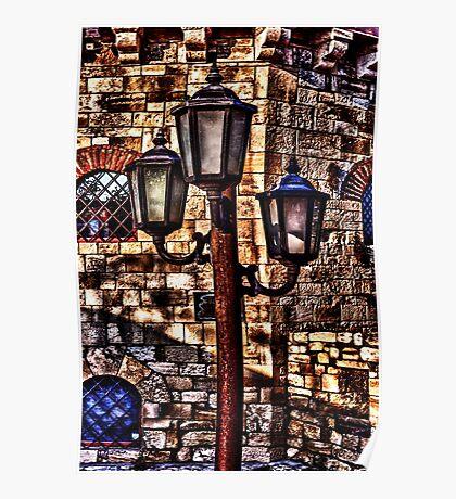 Vintage Lights Kalemegdan Fortress Belgrade Poster