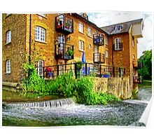 Coxes Mill and the Mill Race HDR Poster