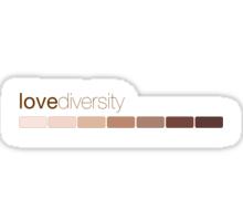 love diversity Sticker