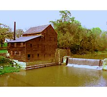 Pine Creek Grist Mill, Muskatine Iowa Photographic Print