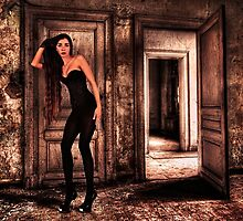Abandoned Fashion Room Fine Art Print by stockfineart