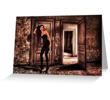 Abandoned Fashion Room Fine Art Print Greeting Card