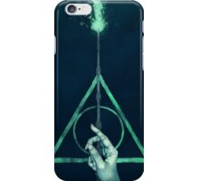 The three Hallows: Lord Voldemort's avada kedavra iPhone Case/Skin