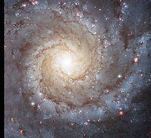 Spiral Galaxy Messier 74 by Greenbaby