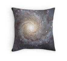 Spiral Galaxy Messier 74 Throw Pillow