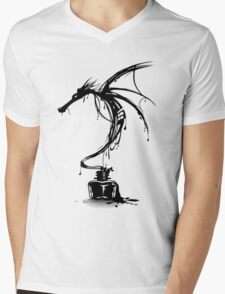 Ink Dragon Mens V-Neck T-Shirt