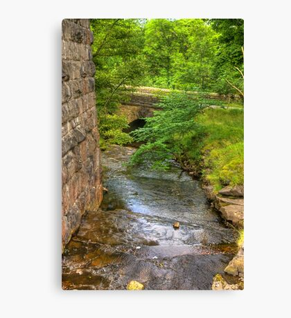 Stream Crossing -  Dentdale Canvas Print