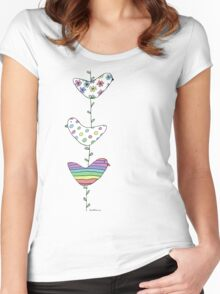 A string of birds Women's Fitted Scoop T-Shirt
