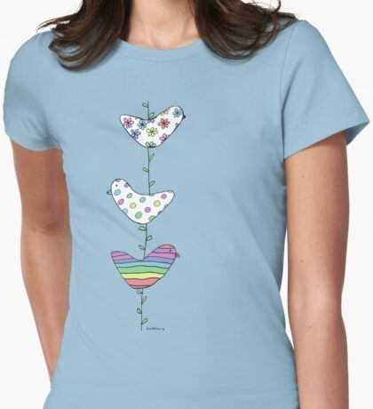A string of birds Womens Fitted T-Shirt