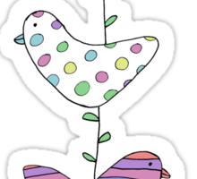 A string of birds Sticker