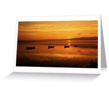 Red sky in the morning.  Greeting Card