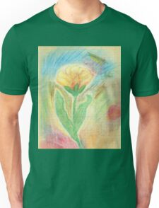 Chalk Drawn Tulip Unisex T-Shirt