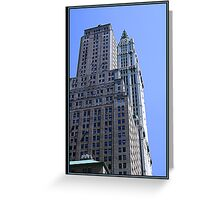 THE WOOLWORTH BUILDING Greeting Card